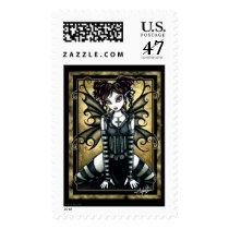 gothic, myka, jeina, art, fantasy, origianls, fliry, fairy, fae, science fiction, Stamp with custom graphic design