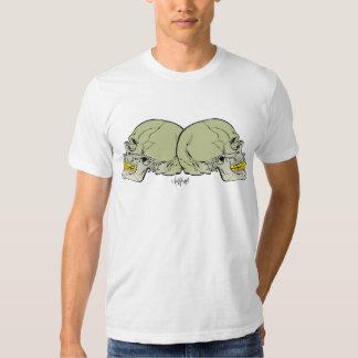 Andy Howell la camiseta de los cráneos Polera