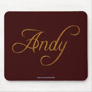 ANDY Nombre-Calificó el regalo Mousepad Tapetes De Ratones