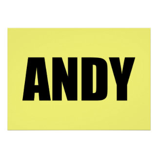 Andy Posters