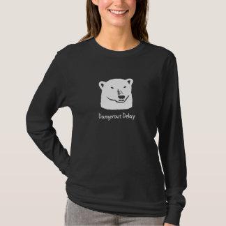 Andy Polar Bear Dangerous Delay Black T-Shirt