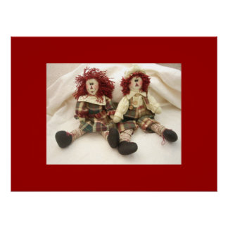 Andy Rag Dolls Canvas Poster