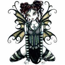 sassy, fairy, andy, faery, fae, faerie, fairies, pixie, fantasy, gothic, emo, cute, art, fine, myka, jelina, characters, Photo Sculpture with custom graphic design