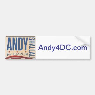 Andy Shallal para alcalde Bumpersticker Pegatina De Parachoque
