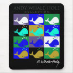 Andy Whale-Hole™_12 panel inverted color mousepad mousepad