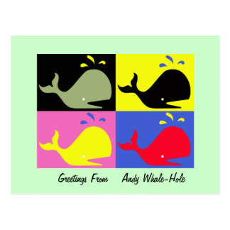 """Andy Whale-Hole™ (4)_""""Greetings From"""" Postcard"""