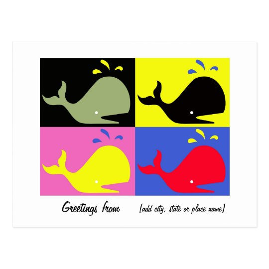 "Andy Whale-Hole™ (4)_""Greetings From"" Template Postcard"