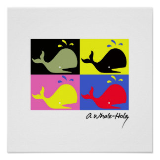 Andy Whale-Hole™_4 panel signed poster/print Poster