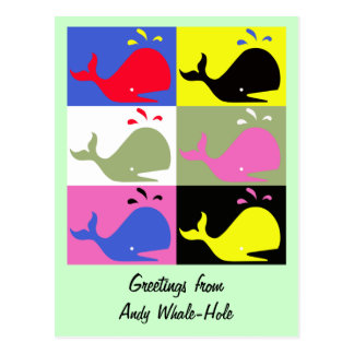 """Andy Whale-Hole™ (6)_""""Greetings From"""" Postcard"""