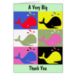 """Andy Whale-Hole™_""""A Very Big Thank You"""" Greeting Card"""