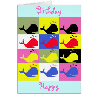 """Andy Whale-Hole™_""""Birthday Happy"""" Greeting Card"""