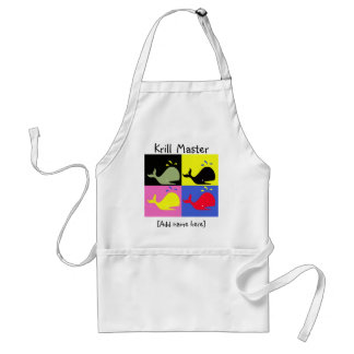 """Andy Whale-Hole™_""""Krill Master"""" Adult Apron"""