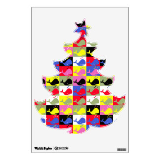 Andy Whale-Hole™_Lots o' whales_Christmas Tree Wall Decal