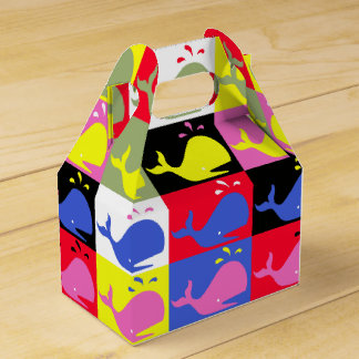 Andy Whale-Hole™_Lots o' whales pattern Favor Box