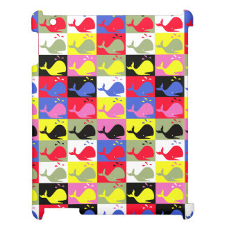 Andy Whale-Hole™_Lots o' whales pattern iPad Cover