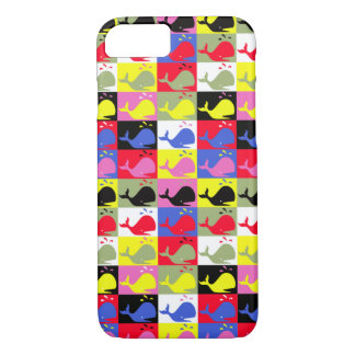 Andy Whale-Hole™_Lots o' whales pattern iPhone 7 Case