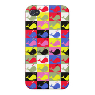 Andy Whale-Hole™_Lots o' whales pattern iPhone 4/4S Cover