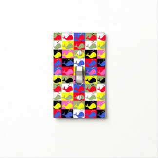 Andy Whale-Hole™_Lots o' whales pattern Light Switch Plate