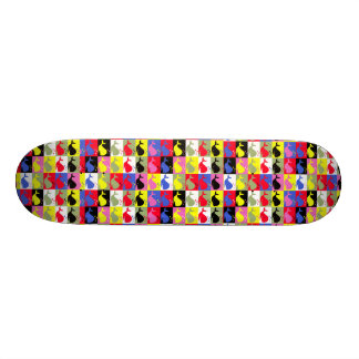 Andy Whale-Hole™_Lots o' whales pattern Skateboard Deck