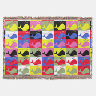 Andy Whale-Hole™_Lots o' whales pattern Throw