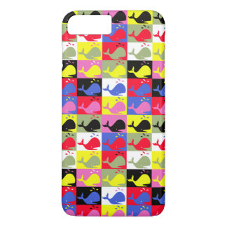 Andy Whale-Hole™_Lots o' whales repeating pattern iPhone 7 Plus Case