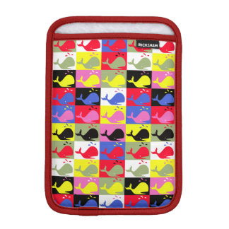 Andy Whale-Hole™ pattern_Lots o' little whales 1 iPad Mini Sleeve