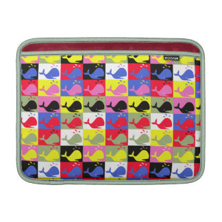 Andy Whale-Hole™ pattern_Lots o' little whales 1 MacBook Sleeve
