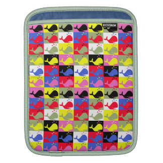 Andy Whale-Hole™ pattern_Lots o' little whales 1 Sleeve For iPads