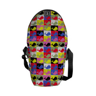 Andy Whale-Hole™ pattern_Lots o' little whales 2 Courier Bag