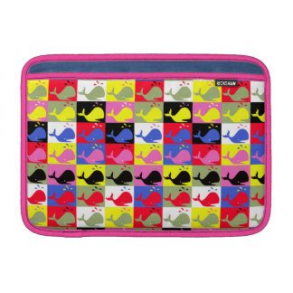 Andy Whale-Hole™ pattern_Lots o' little whales 2 MacBook Air Sleeve