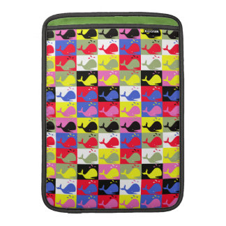 Andy Whale-Hole™ pattern_Lots o' little whales 2 MacBook Sleeve