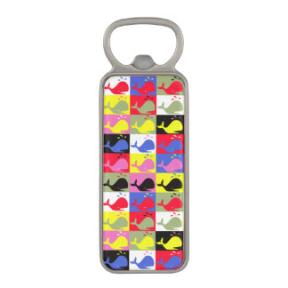 Andy Whale-Hole™ pattern_Lots o' little whales Magnetic Bottle Opener