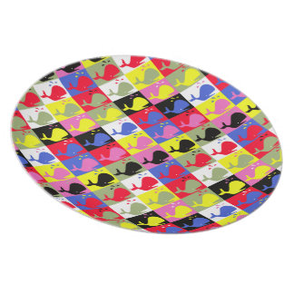 Andy Whale-Hole™ pattern_Lots o' little whales Plate