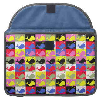 Andy Whale-Hole™ pattern_Lots o' little whales Sleeve For MacBooks