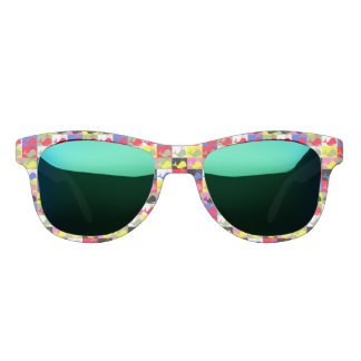 Andy Whale-Hole™ pattern_Lots o' little whales Sunglasses