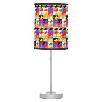 Andy Whale-Hole™ pattern_Lots o' little whales Table Lamp