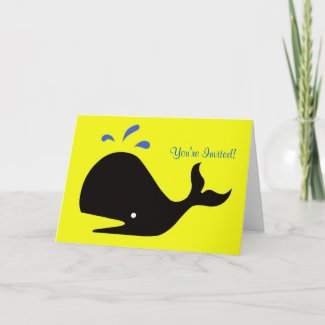 Andy Whale Singletons_black,blue on yellow card