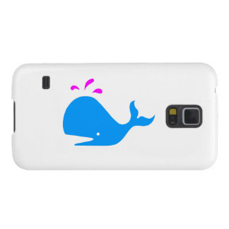 Andy Whale Singletons_blue, magenta on white Galaxy S5 Cover