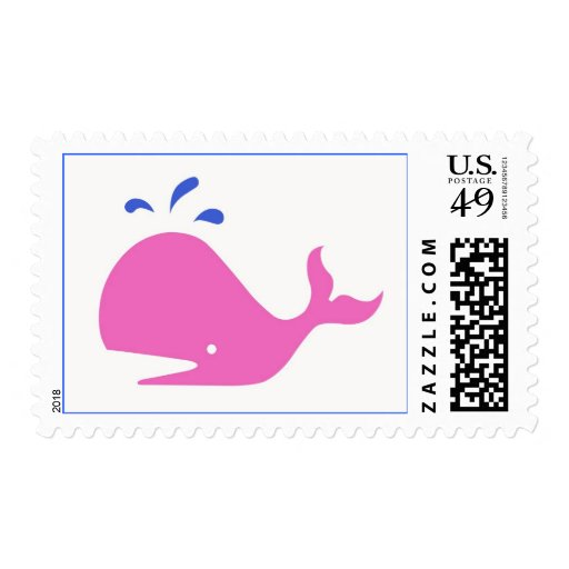 Andy Whale Singletons_pink,blue on white postage