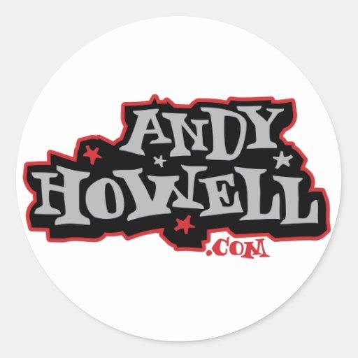 AndyHowell.com Etiquetas Redondas
