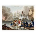 Anécdota en la batalla de Trafalgar Postal