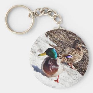 Anecdotarios patos silvestres masculinos y femenin llavero personalizado