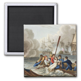 Anecdote at the Battle of Trafalgar 2 Inch Square Magnet