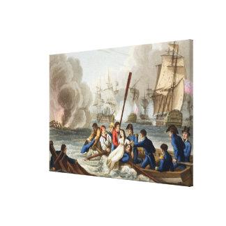 Anecdote at the Battle of Trafalgar Canvas Print