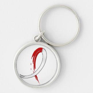 Anemia aplástica de la cinta blanca roja de la pin llaveros