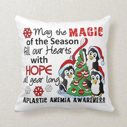 Anemia aplástica de los pingüinos del navidad almohadas