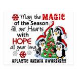Anemia aplástica de los pingüinos del navidad postal
