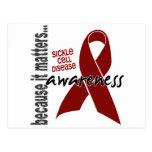 Anemia de células falciformes de la conciencia 1 tarjeta postal
