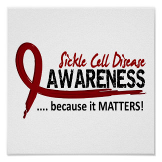 Anemia de células falciformes de la conciencia 2 posters