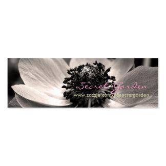 Anémona 1 - Fotografía floral - tarjetas de visita